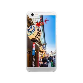 三社祭04 Clear smartphone cases