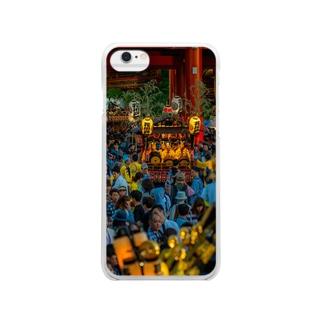 三社祭02 Clear smartphone cases