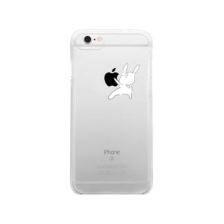 チャラウサギ Clear smartphone cases