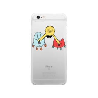 SCM打ち消し Clear smartphone cases