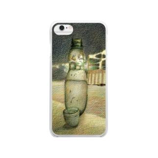 ラムネ瓶 Clear smartphone cases
