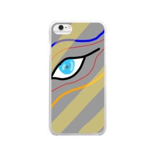 睨み Clear smartphone cases