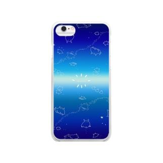 めんだこいっぱい Clear smartphone cases