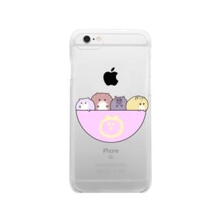 はむズと一緒 Clear smartphone cases