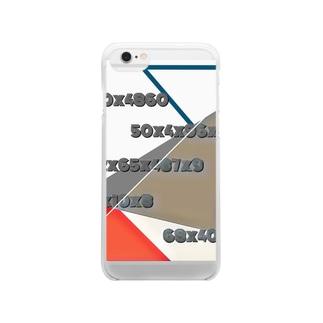 とどめしスマホケース Clear smartphone cases