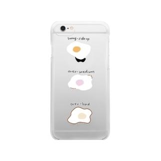 めだま焼き Clear smartphone cases