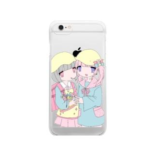 卍女児卍 Clear smartphone cases