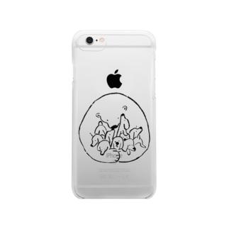 だれも置いてかない(黒) Clear smartphone cases