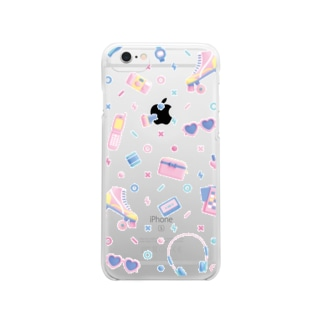 80s-90s【6/6s購入ページ】 Clear smartphone cases