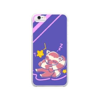 すやすやワオキツネザル Clear smartphone cases