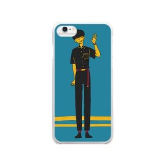 サブカル男子 Clear smartphone cases