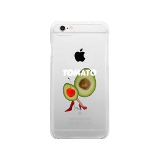 ほんとうはトマトじゃない Clear smartphone cases