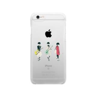 ギター&ベース男子 Clear smartphone cases