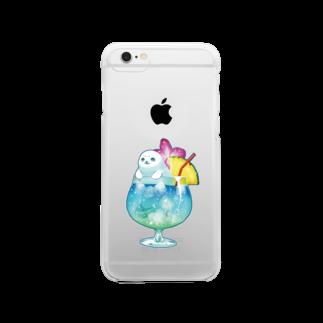 BARE FEET/猫田博人のトロピカルアザラシ・クリアケース Clear smartphone cases