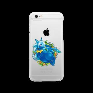 BARE FEET/猫田博人のティー・クリアケース Clear smartphone cases