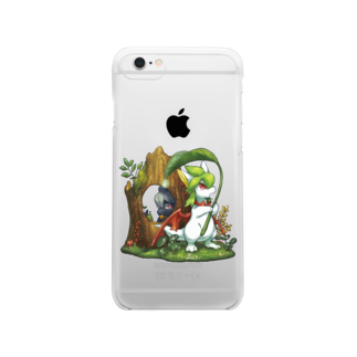 BARE FEET/猫田博人の雨の森(side:リペア)・クリアケース Clear smartphone cases
