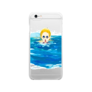 in the pool clear Clear smartphone cases
