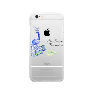 peacock Clear smartphone cases