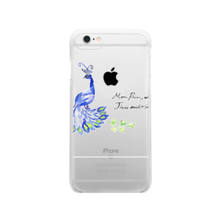 KUNI knitsのpeacock Clear smartphone cases