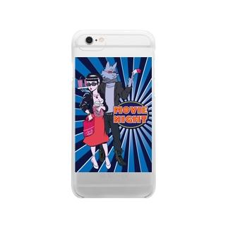ムービーナイト Clear smartphone cases