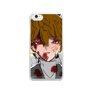 Psycho おにいちゃん Clear smartphone cases
