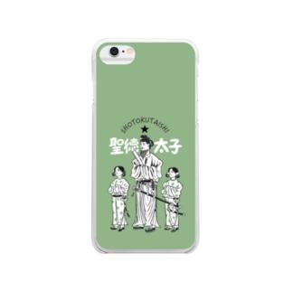 聖徳太子 クリアスマホケース Clear smartphone cases