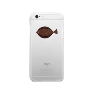 🔵nnym🔵のヒラメが釣れた Clear smartphone cases