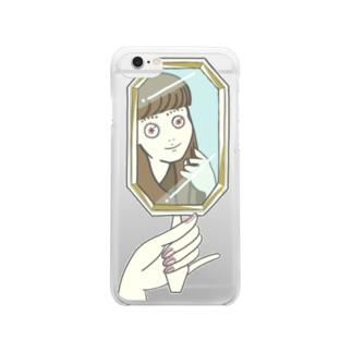 unubore mirror hairstyle Clear smartphone cases