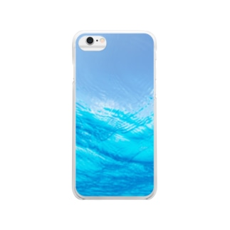 in water. Clear smartphone cases