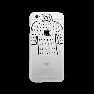 rica-asanumaのやまおとこ君 Clear smartphone cases