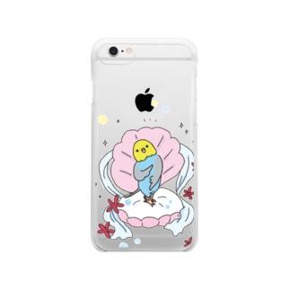 インコにパール(よくお似合い) Clear smartphone cases