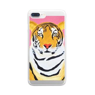 トラ Clear smartphone cases