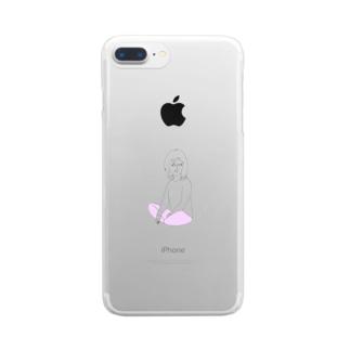 しろめ女子#03 Clear smartphone cases