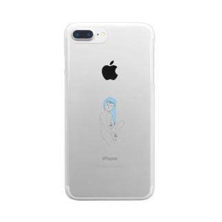 しろめ女子#04 Clear smartphone cases