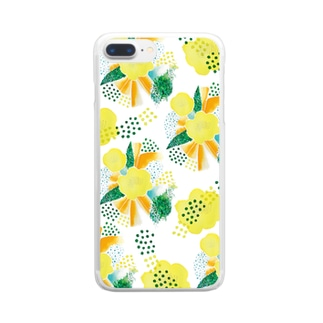 yellow_flower Clear smartphone cases