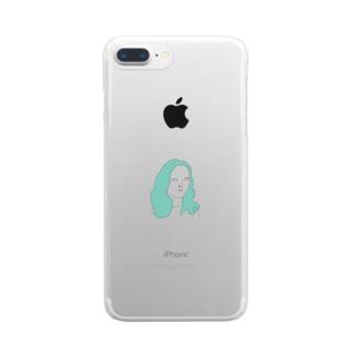 しろめ女子 #05 Clear smartphone cases