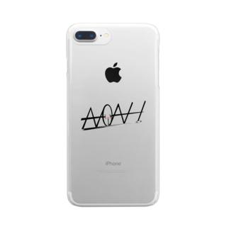 ノアさん公認デザインワンポイント Clear smartphone cases