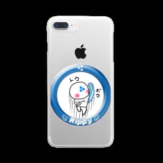 ビケ@BKF48 補欠のりっぴぃくん昇龍拳バージョン Clear smartphone cases