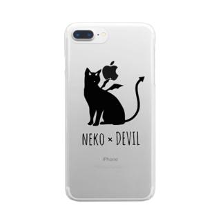 NEKO×DEVIL Clear smartphone cases
