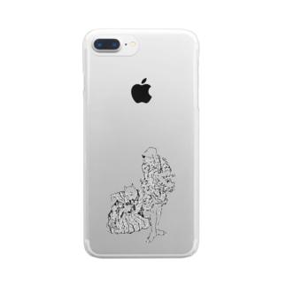 大見得を切るふく Clear smartphone cases