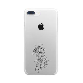 楽しく踊る幇間猫 Clear smartphone cases