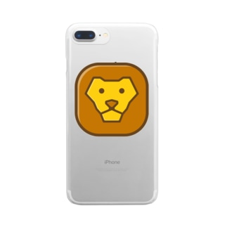 Savanna lion face Clear smartphone cases