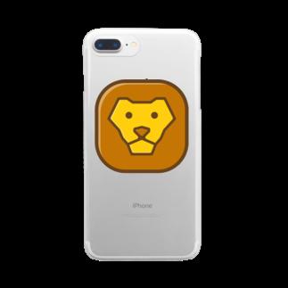 willnetのSavanna lion face Clear smartphone cases