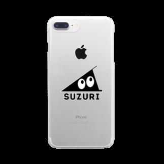 忍者スリスリくんのSUZURI Clear smartphone cases