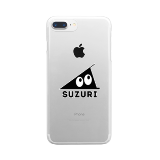忍者スリスリくんのSUZURI Clear smartphone cases
