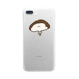 おかっぱちゃん ( りんご隠しver ) Clear smartphone cases