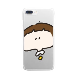 おかっぱちゃん ( ドアップ ver ) Clear smartphone cases