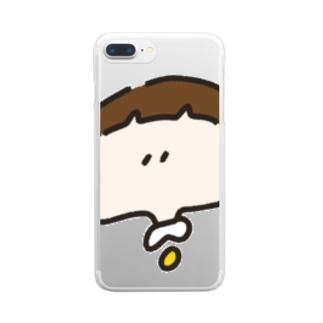 おかっぱちゃん ( ドアップ ver ) クリアスマートフォンケース