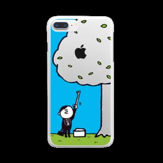 MOGUMO SHOPのがんばるひと クリアスマートフォンケース
