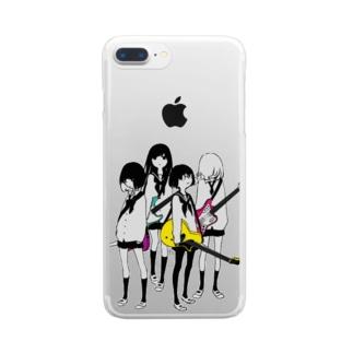 ギター&ベース女子高生 Clear smartphone cases